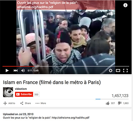 Original Youtube video of French protesters used by Fox News.