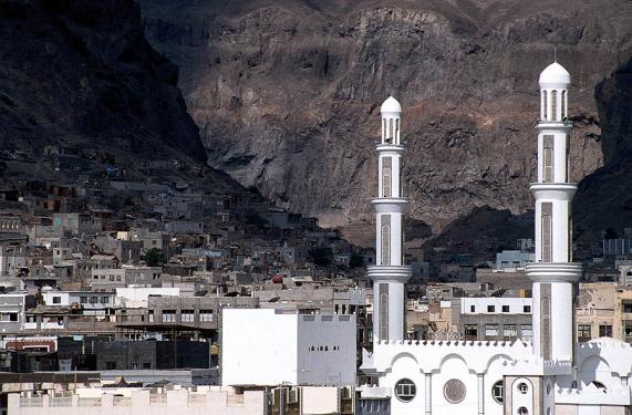 The old town of Aden, Yemen, situated in the crater of an extinct volcano (photo: Jialiang Gao).