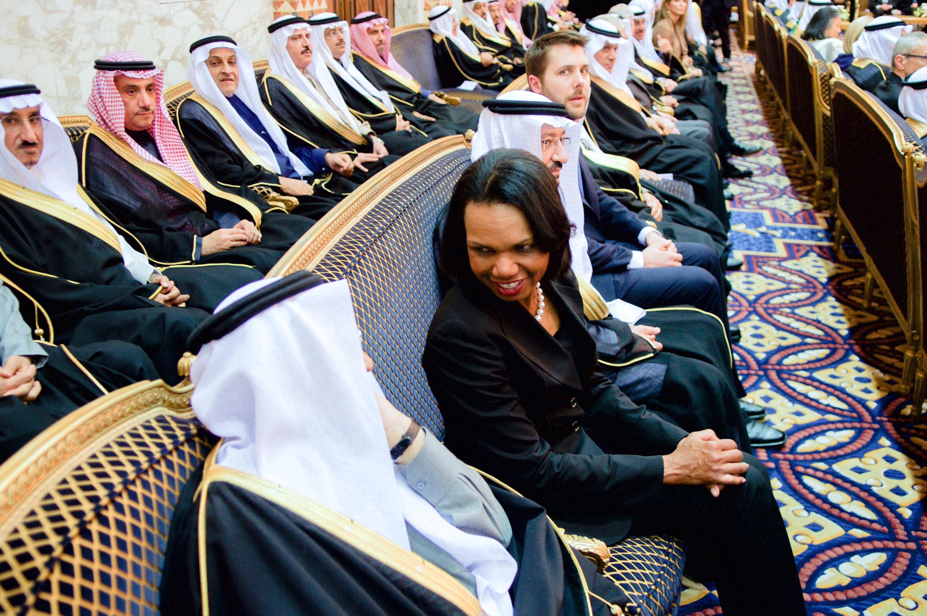 Former_Secretary_Rice_Chats_With_a_Member_of_the_Saudi_Royal_Family