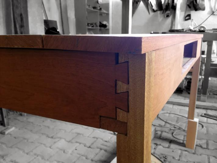 Desk joinery. Photographer: Mina Wagih Wardakhan