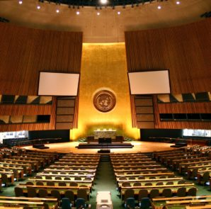 UN General Assembly Hall, New York.