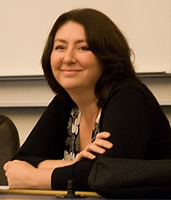 Maryam Namazie before her lecture in the University of Iceland in september 2007 (photo: Matti Á).