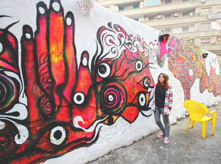 Salma Al Gamal, WOW - Women on Walls in Cairo, Egypt. Photographer: Mustafa Hisham