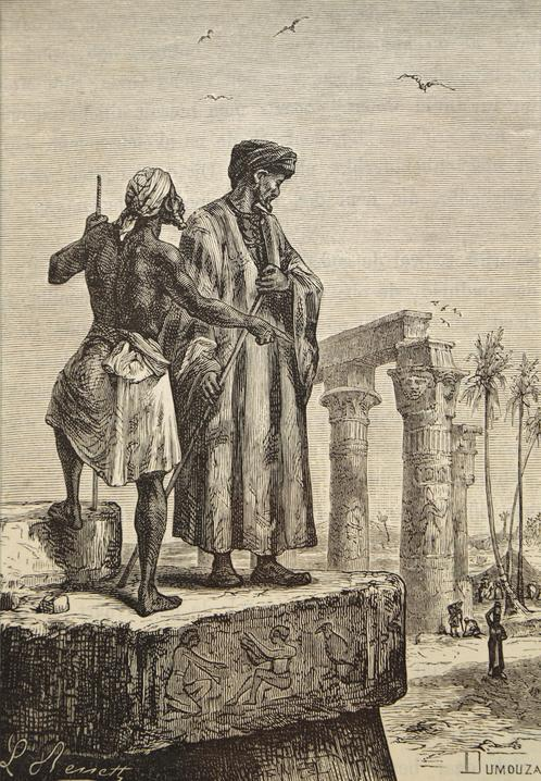 handmade_oil_painting_reproduction_of_ibn_battuta_in_egypt_a_painting_by_hippolyte_leon_benett